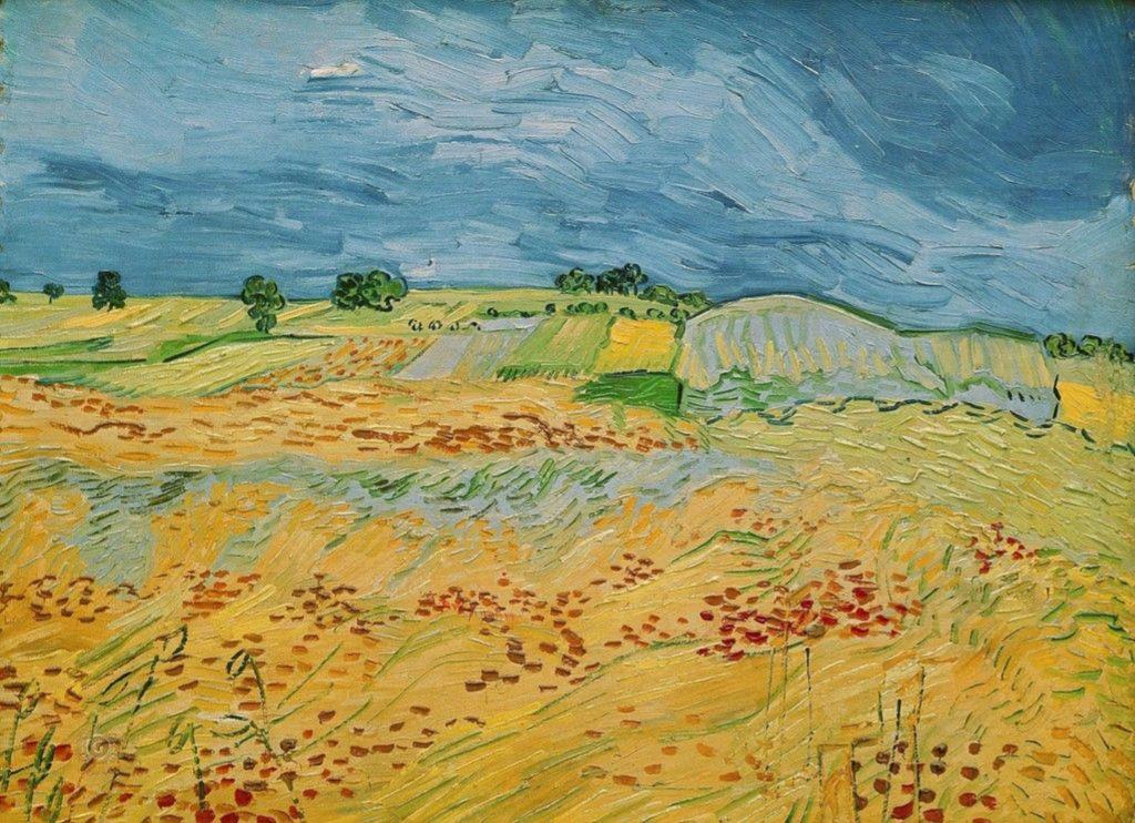 ван гог пшеничное поле с воронами фото его нам